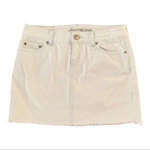 Anerican Eagle White Denim Mini Skirt